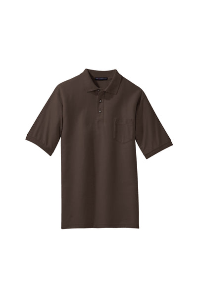 Port Authority Silk Touch Polo with Pocket DARK COLORS - GREEQ