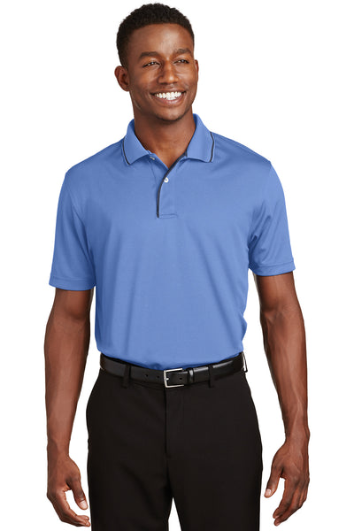 Sport-Tek Dri-Mesh Polo with Tipped Collar and Piping - GREEQ