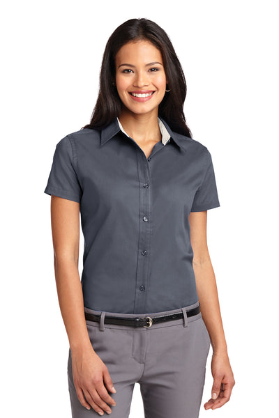 Port Authority Ladies Short Sleeve Easy Care Shirt DARK COLORS - GREEQ