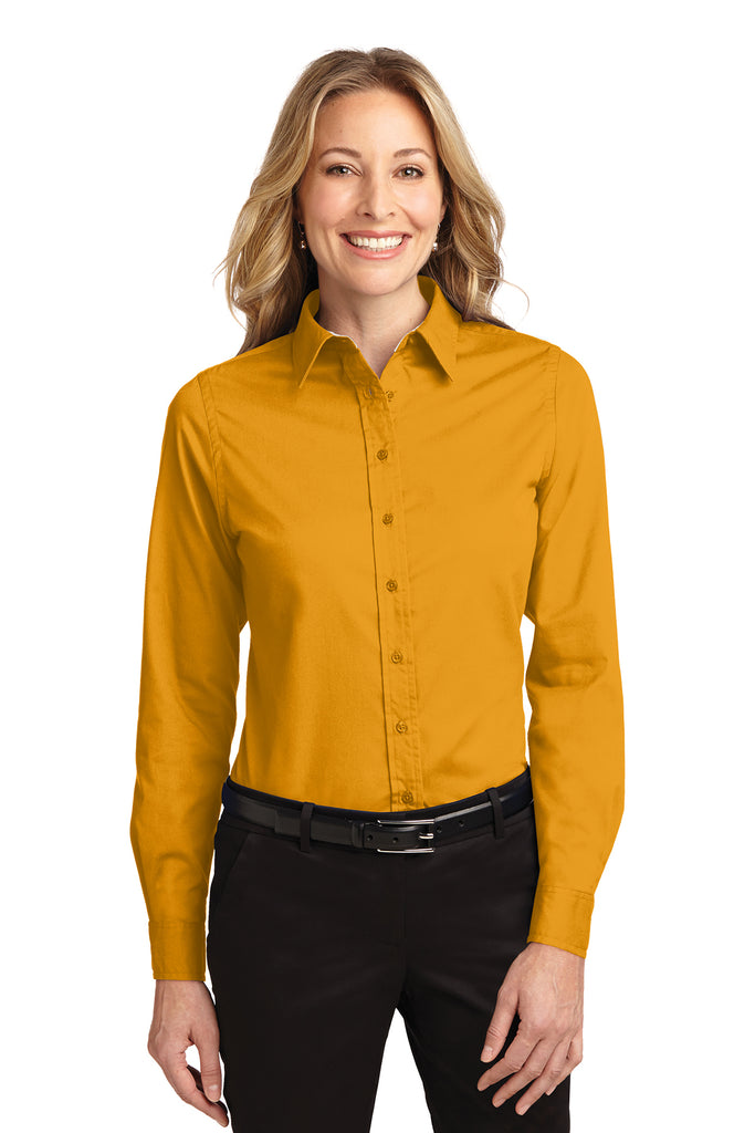 Port Authority Ladies Long Sleeve Easy Care Shirt LIGHT COLOR - GREEQ