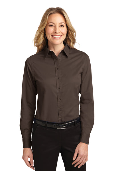 Port Authority Ladies Long Sleeve Easy Care Shirt DARK COLORS - GREEQ