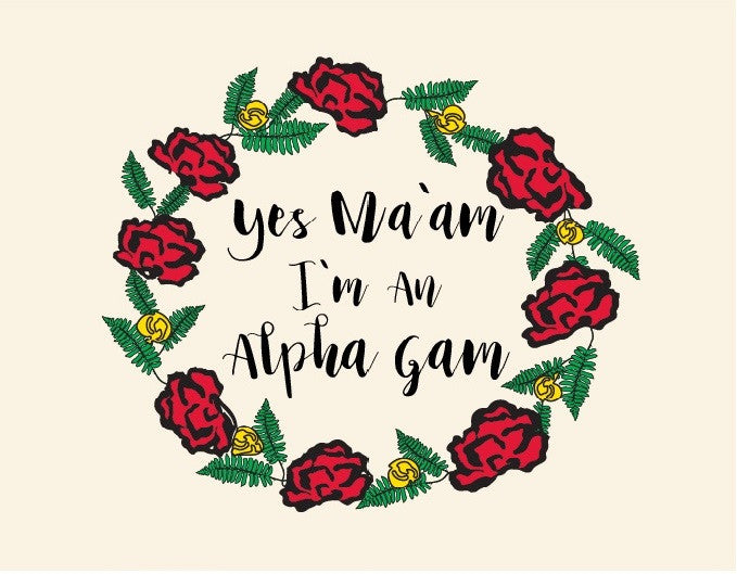Alpha Gamma Delta - Yes Ma'am I Am  17-CAMPUS-1004