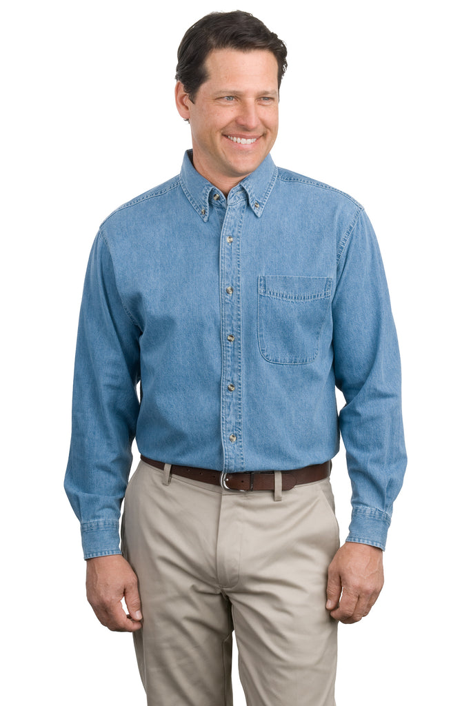Port Authority Long Sleeve Denim Shirt - GREEQ