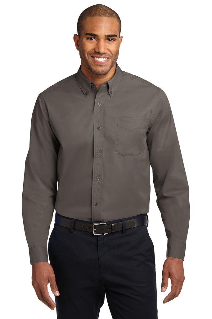 Port Authority Long Sleeve Easy Care Shirt DARK COLORS - GREEQ