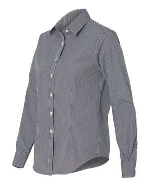 Button-up Long Sleeve -Woman's - Gingham Check - Van Heusen - FMH-11032E