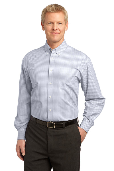 Port Authority Plaid Pattern Easy Care Shirt - GREEQ