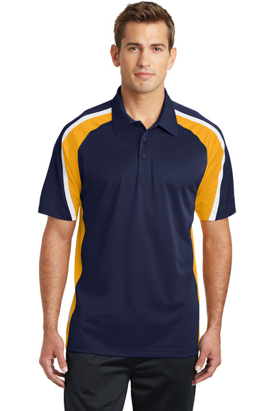 Sport-Tek Tricolor Micropique Sport-Wick Polo - GREEQ