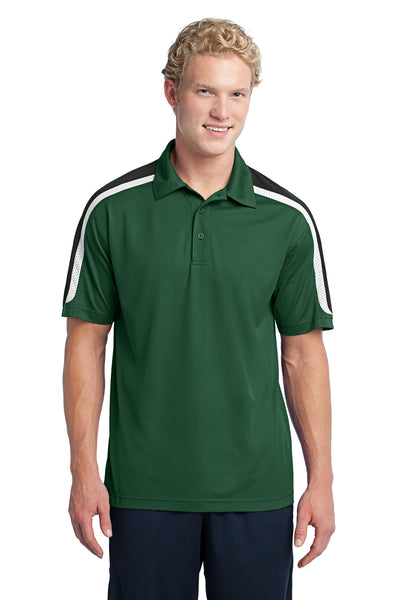 Sport-Tek Tricolor Shoulder Micropique Sport-Wick Polo - GREEQ