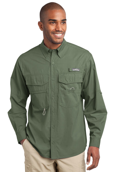 Eddie Bauer Long Sleeve Fishing Shirt - GREEQ