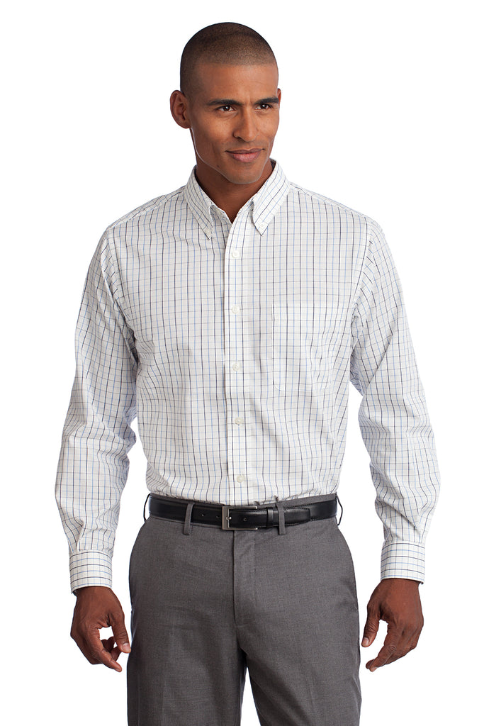 Port Authority Tall Tattersall Easy Care Shirt - GREEQ