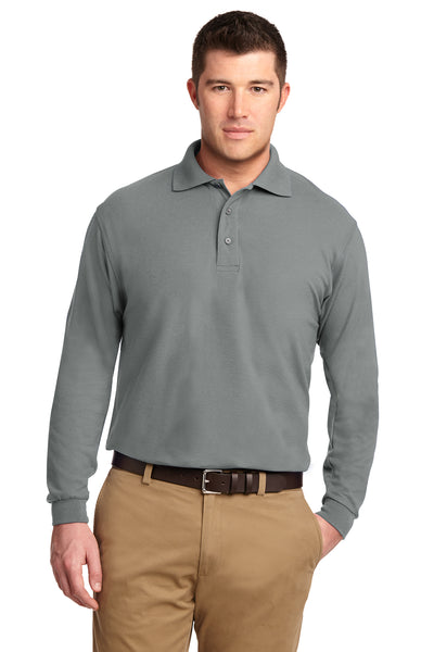 Port Authority Tall Silk Touch Long Sleeve Polo - GREEQ