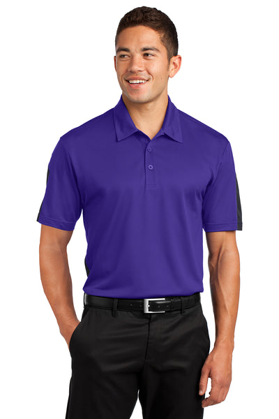 Sport-Tek PosiCharge Active Textured Colorblock Polo - GREEQ