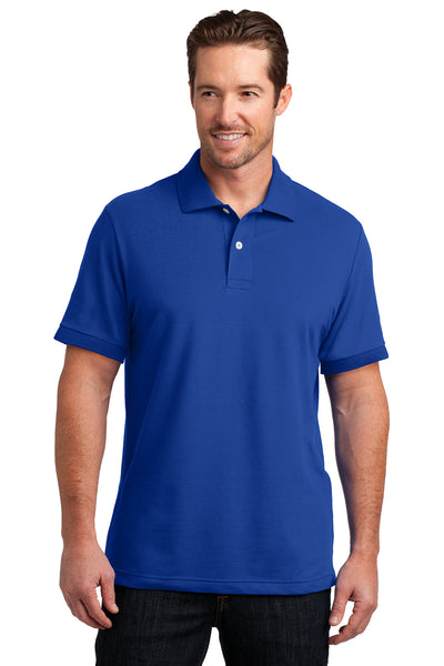 District Made Mens Stretch Pique Polo - GREEQ