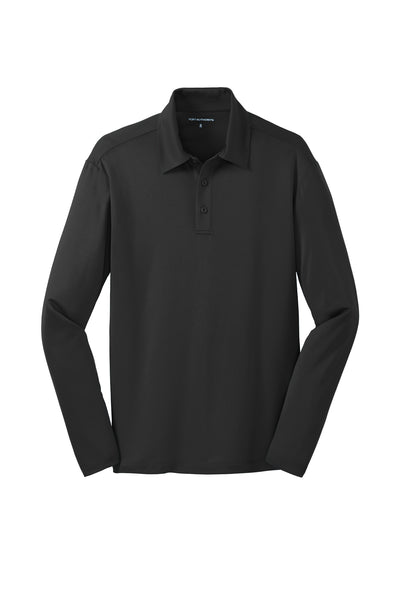 Port Authority Silk Touch Performance Long Sleeve Polo - GREEQ