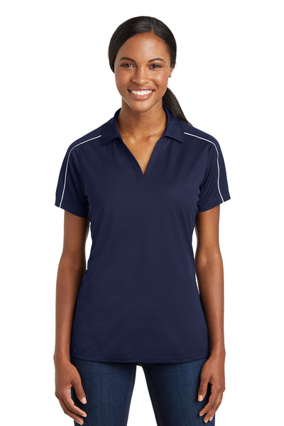 Sport-Tek Ladies Micropique Sport-Wick Piped Polo - GREEQ