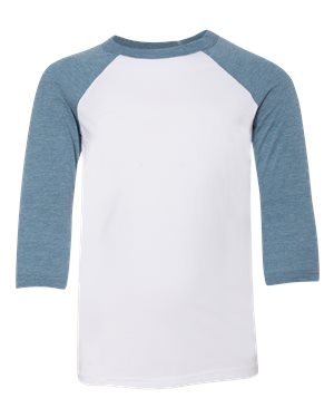 Three Quarter Sleeve Baseball Tee - Youth - JPMAA- 8209