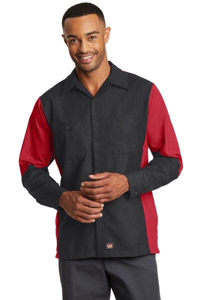Red Kap Long Sleeve Ripstop Crew Shirt - GREEQ
