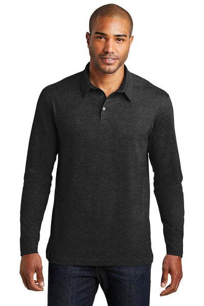 Port Authority Long Sleeve Meridian Cotton Blend Polo - GREEQ