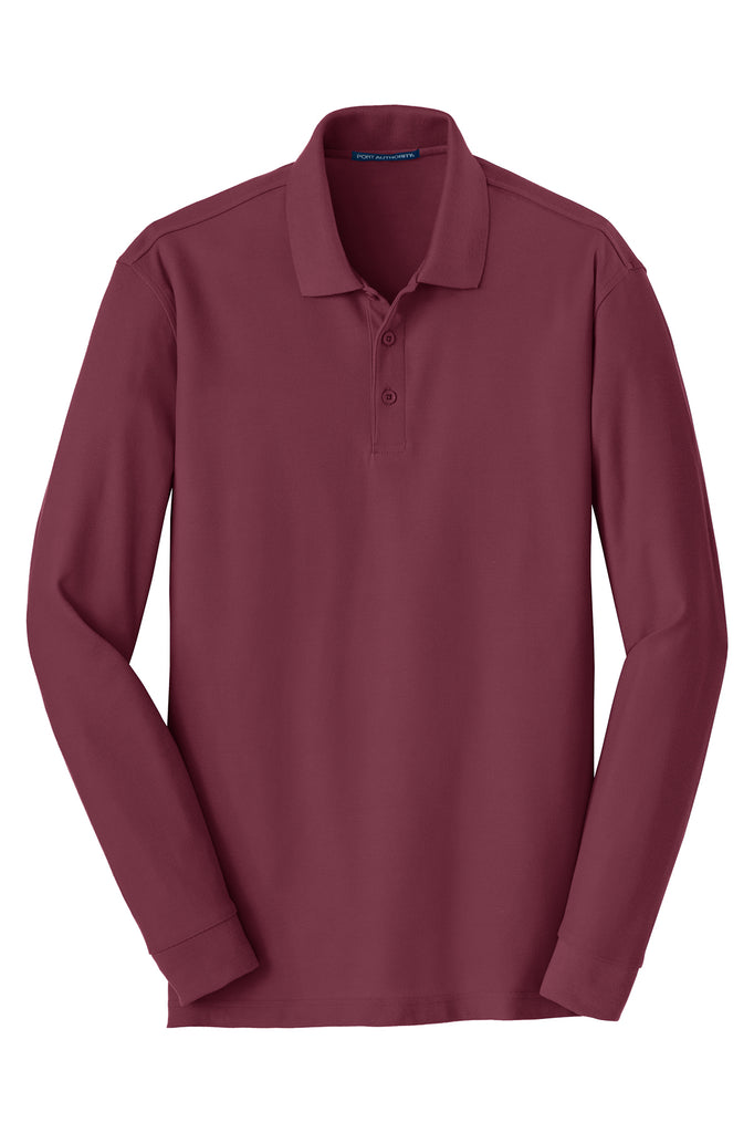 Port Authority Long Sleeve Core Classic Pique Polo - GREEQ