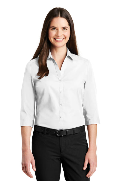 Port Authority Ladies 3/4-Sleeve Carefree Poplin Shirt - GREEQ