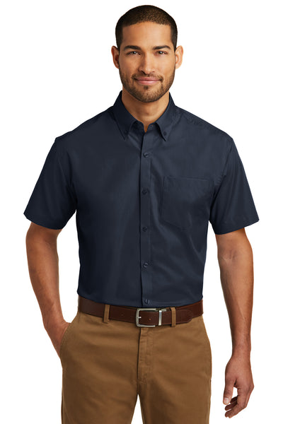Port Authority Short Sleeve Carefree Poplin Shirt - GREEQ