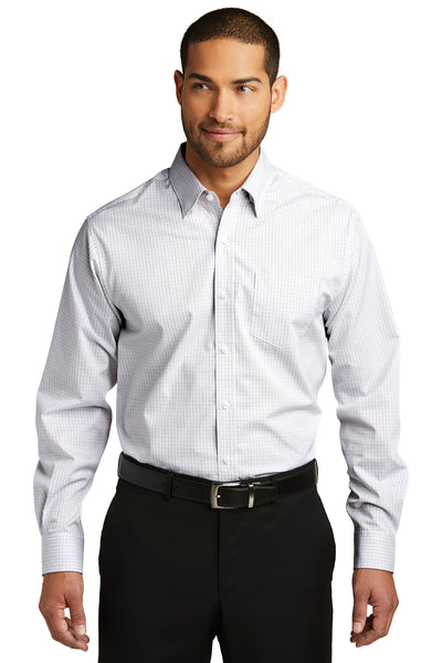 Port Authority Micro Tattersall Easy Care Shirt - GREEQ