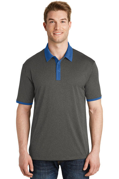 Sport-Tek Heather Contender Contrast Polo - GREEQ