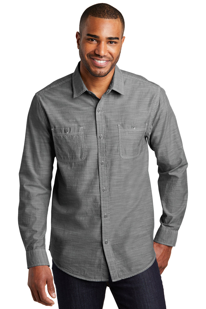 Port Authority Slub Chambray Shirt - GREEQ
