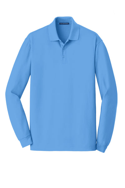 Port Authority EZCotton Long Sleeve Polo - GREEQ