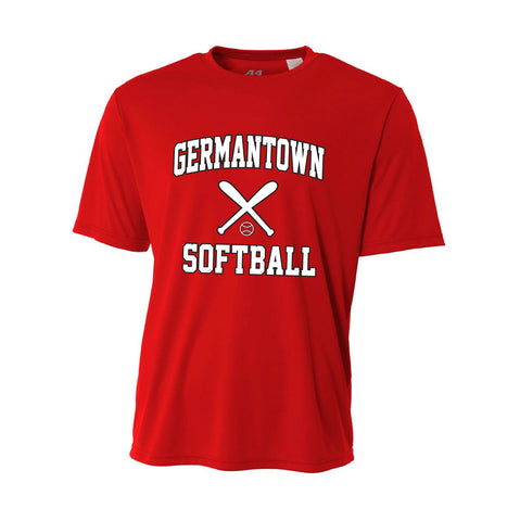 Germantown Softball - Red Jersey - 12879 14U Jenkins