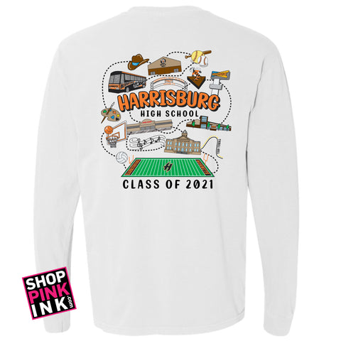 Harrisburg High School Seniors -Long Sleeve - 17197