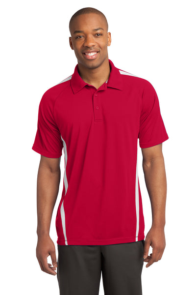 Sport-Tek PosiCharge Micro-Mesh Colorblock Polo - GREEQ