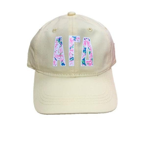 Hat - Floral Greek Letters - PI-1159