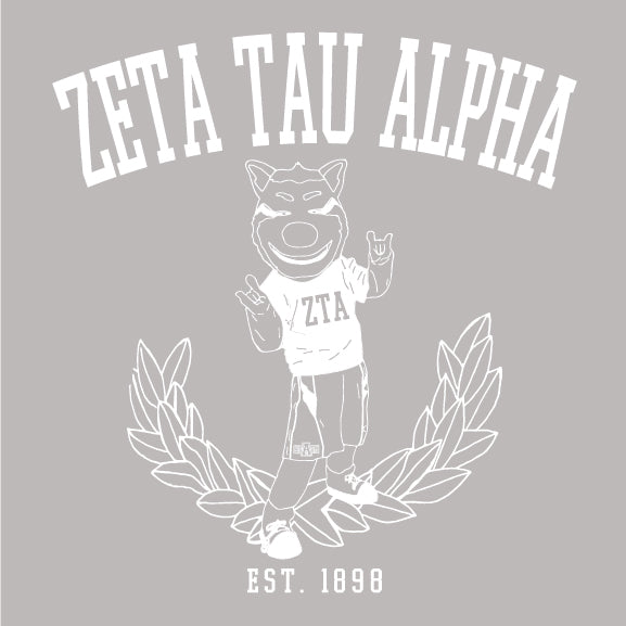 Zeta Tau Alpha - Old School Mascot - PI-1116