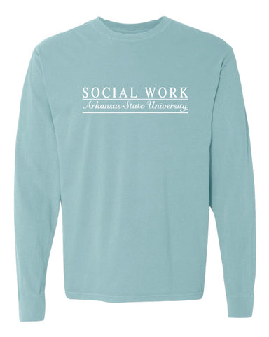 Social Work - Comfort Colors Long Sleeve -17-PIASTATE-10815