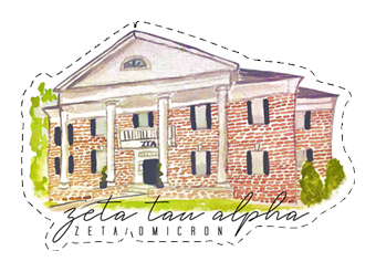 Zeta Tau Alpha House Sticker