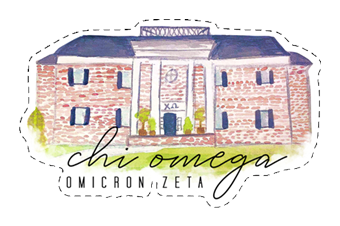 Chi Omega House Sticker