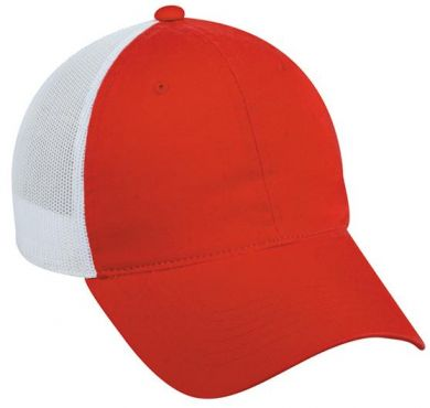 Platinum Series Hat - Unstructured Mesh Back - RED- GERED
