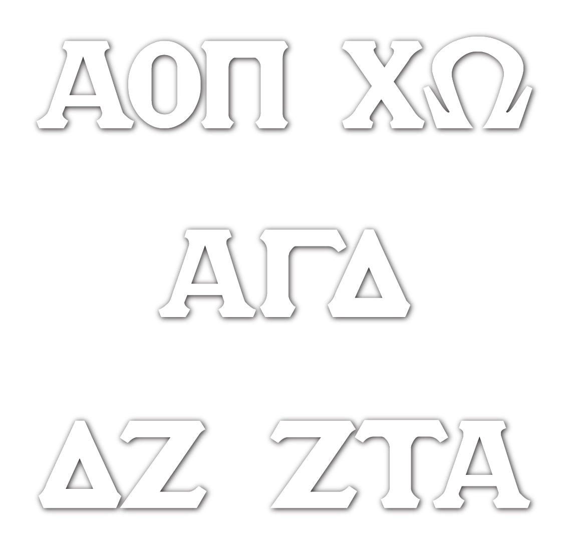 Vinyl Sticker Decals - Greek Letters