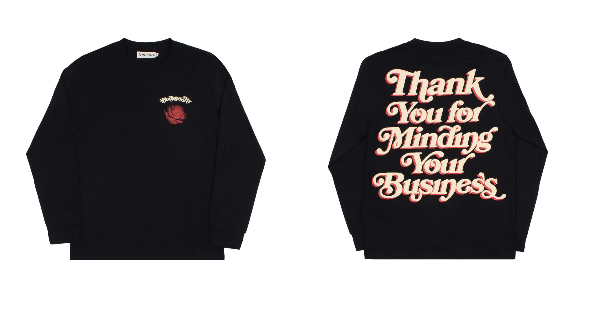 Mind Your Business Long Sleeve (Black/Crm)