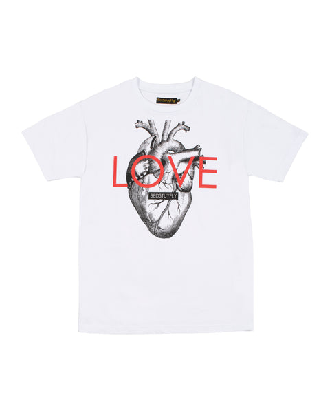 Love With Your Heart T-Shirt (Wht)