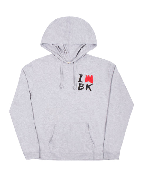 One King T-Shirt Hoodie (Gray)