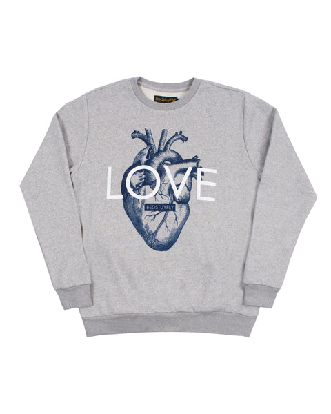Love With Your Heart Sweatshirt (Gry)