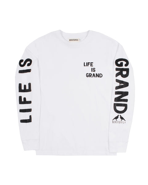 Life Is Grand Long Sleeve (White)