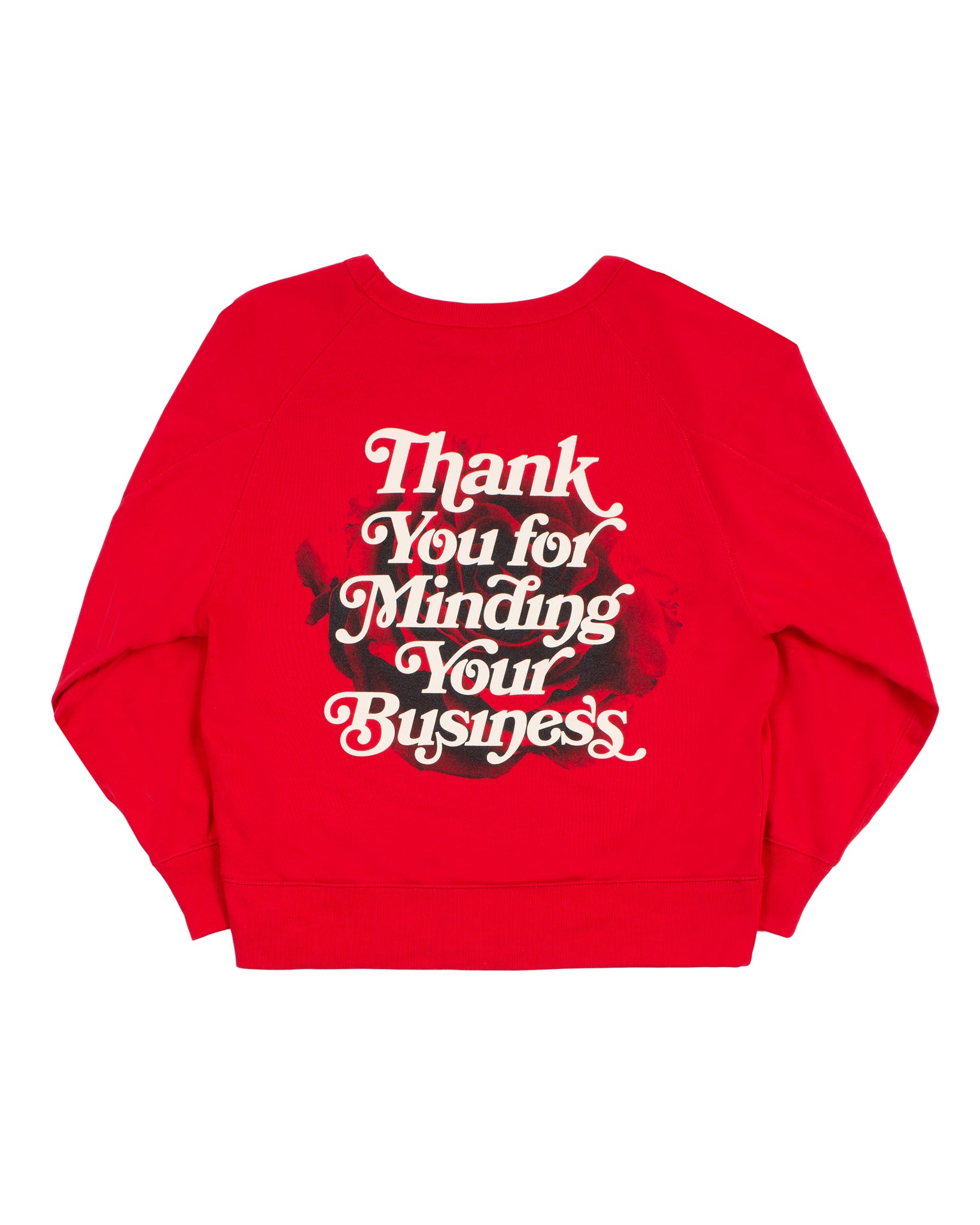 Mind Your Business Women Sweatshirt (Red)