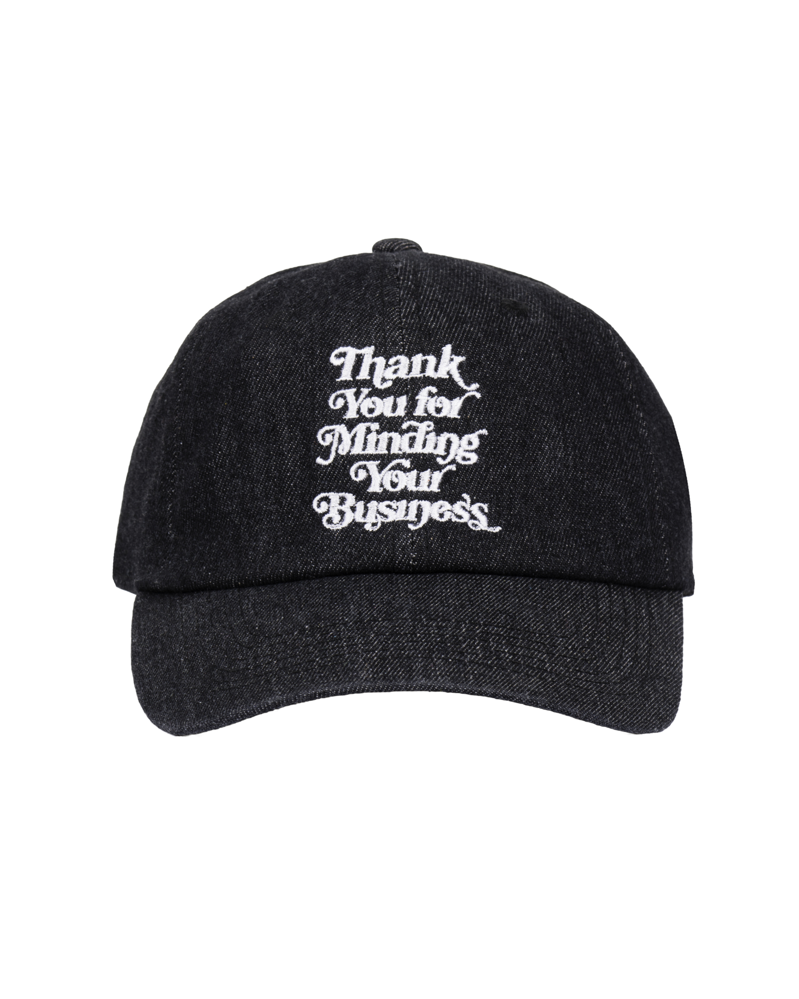 Mind Your Business Cap (Black  Denim)