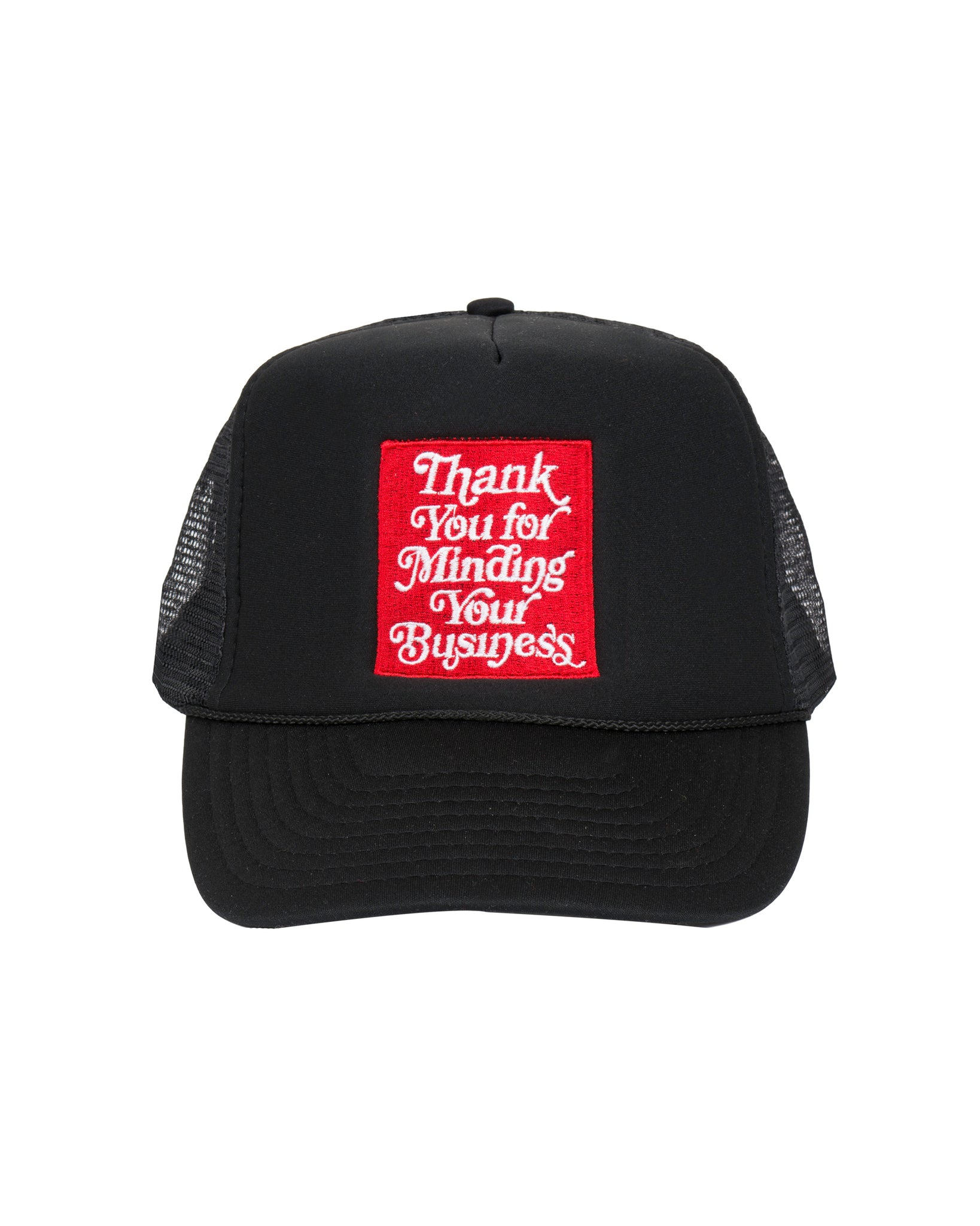 Mind Your Business Trucker Cap (Blk)