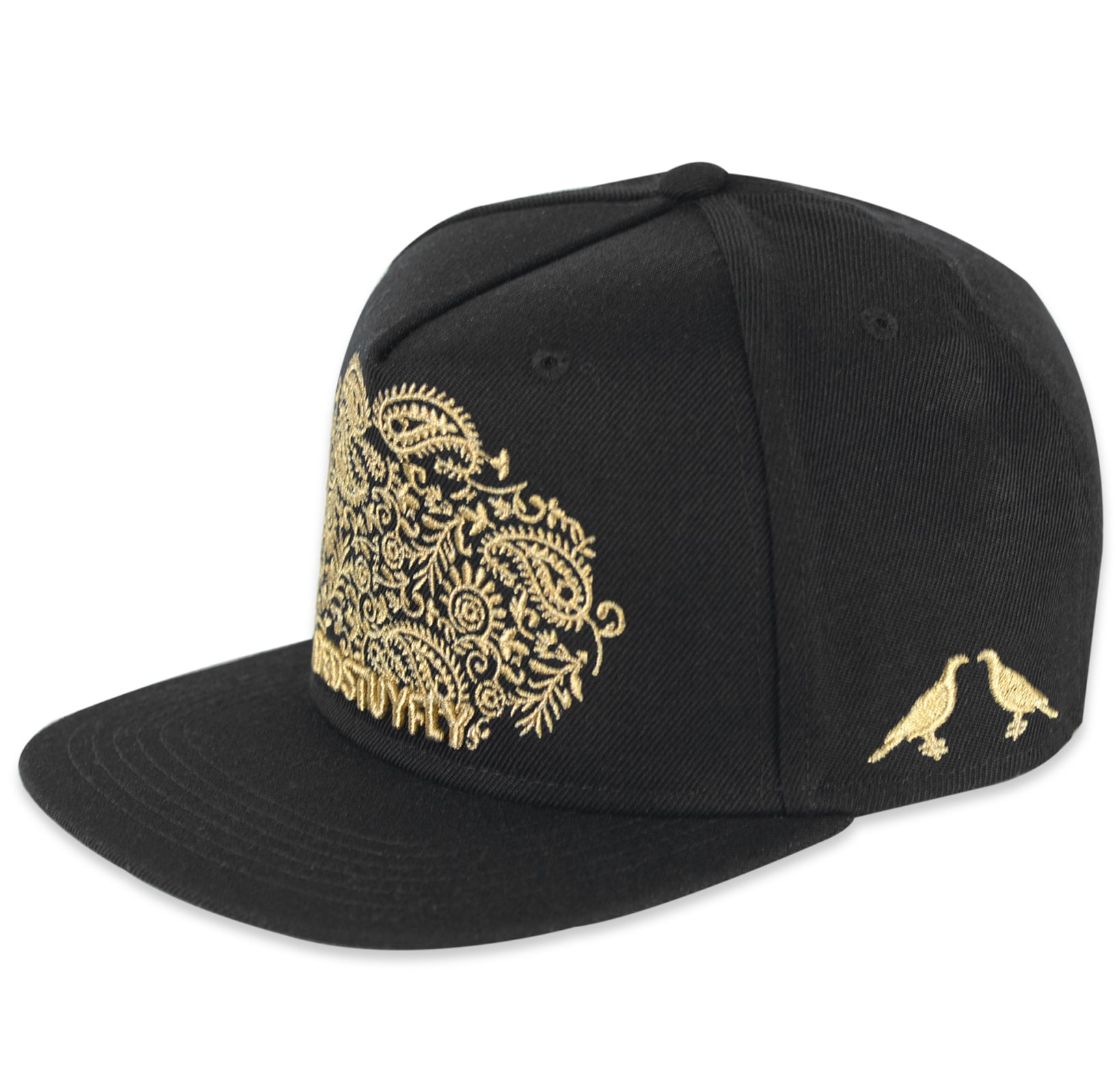PAISLEY CAP (BLACK/GOLD)