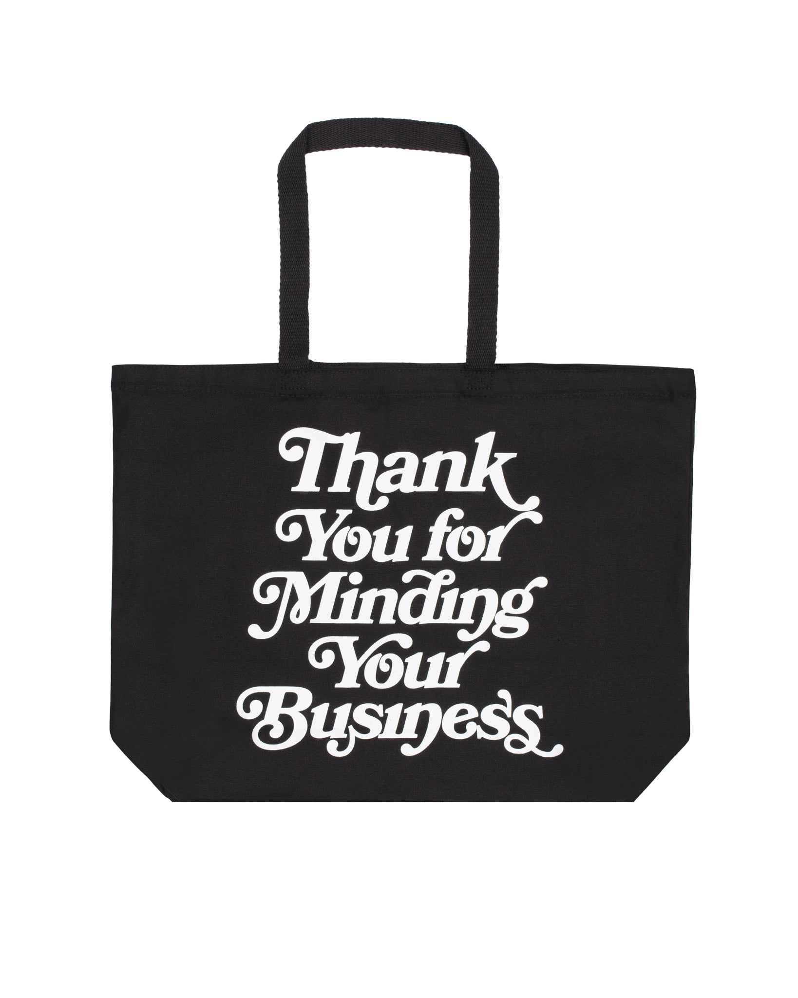 Mind Your Business Tote Bag (Blk/Wht)