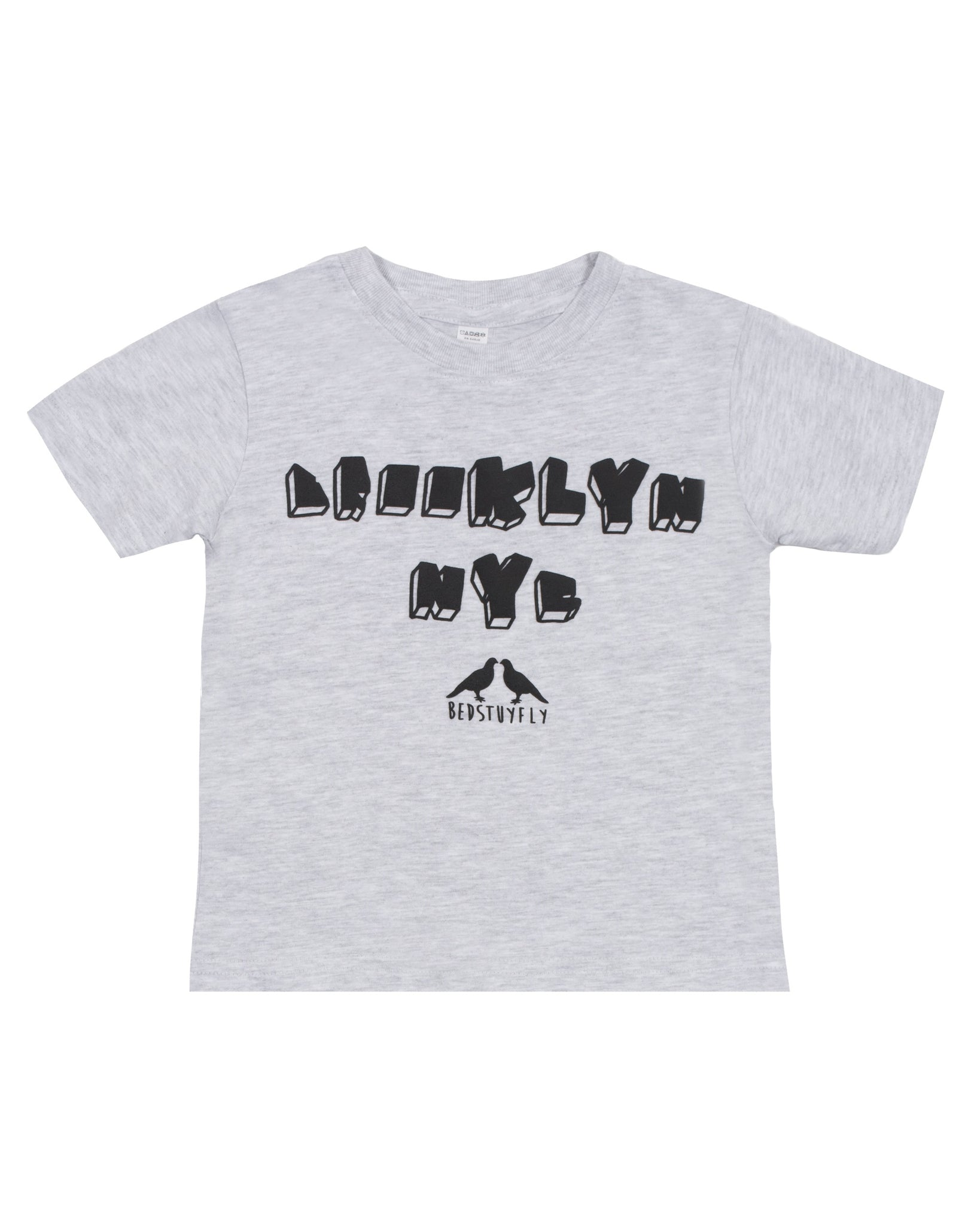 Brooklyn NY Kids T-Shirt (Gry)